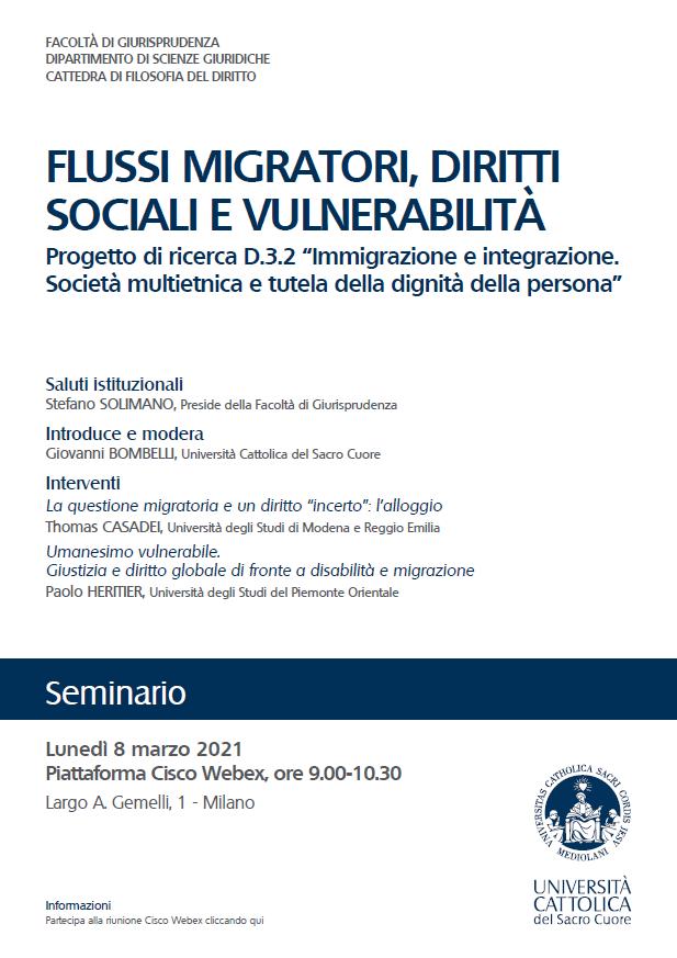 Flussi migratori, diritti sociali e vulnerabilità