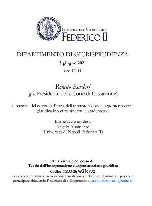 Incontro con Renato Rordorf