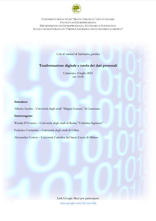 Trasformazione digitale e tutela dei dati personali